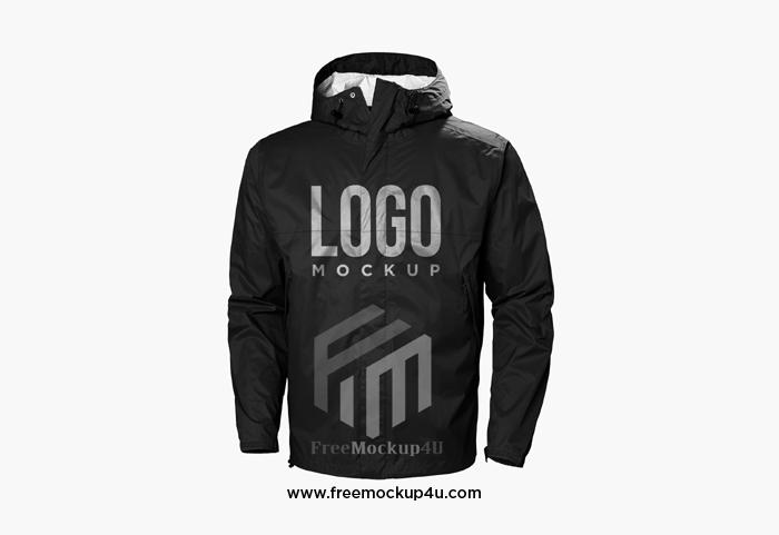Black Jacket Logo Mockup Design Isolated
