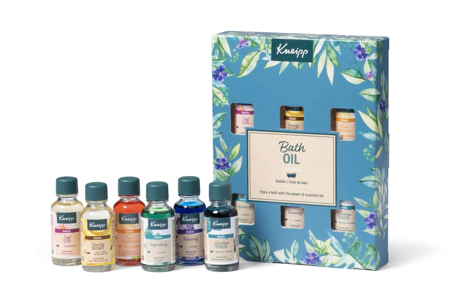 Nieuwe kneipp Giftsets voor Sint/kerst 2020 Bath oil collectie