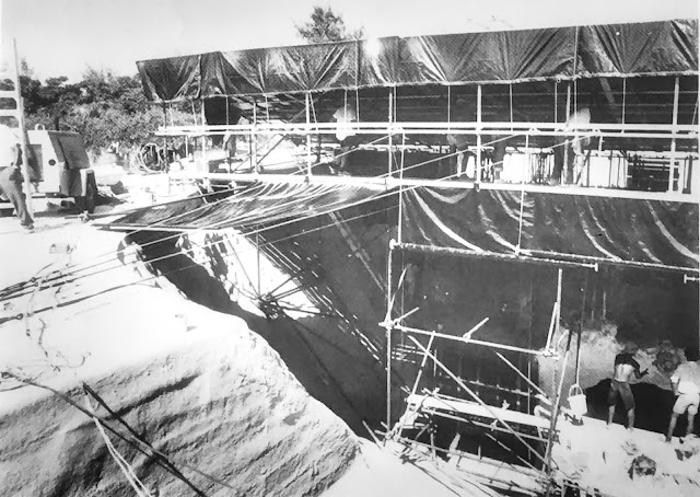 Construction of the BUS at Ireland Island South, Bermuda, 1976