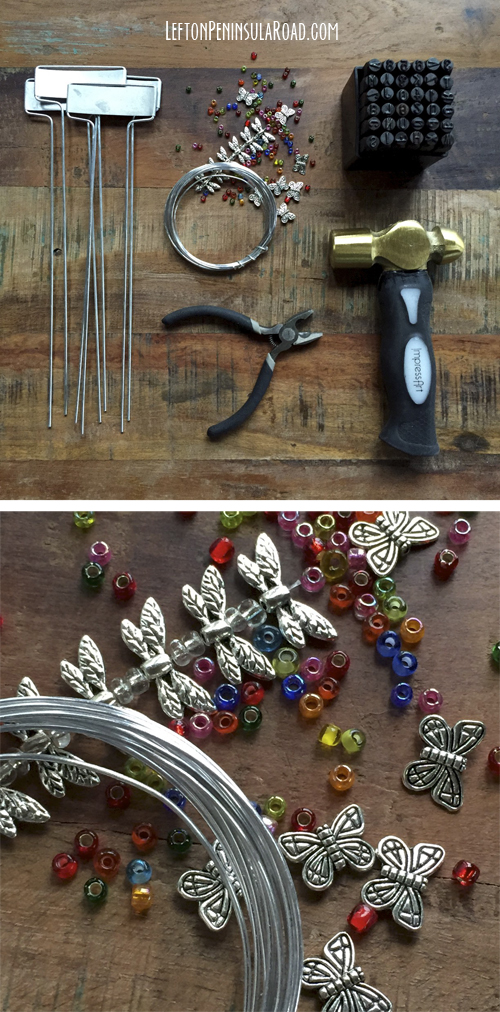 Make some Stamped and Beaded Markers for your Garden