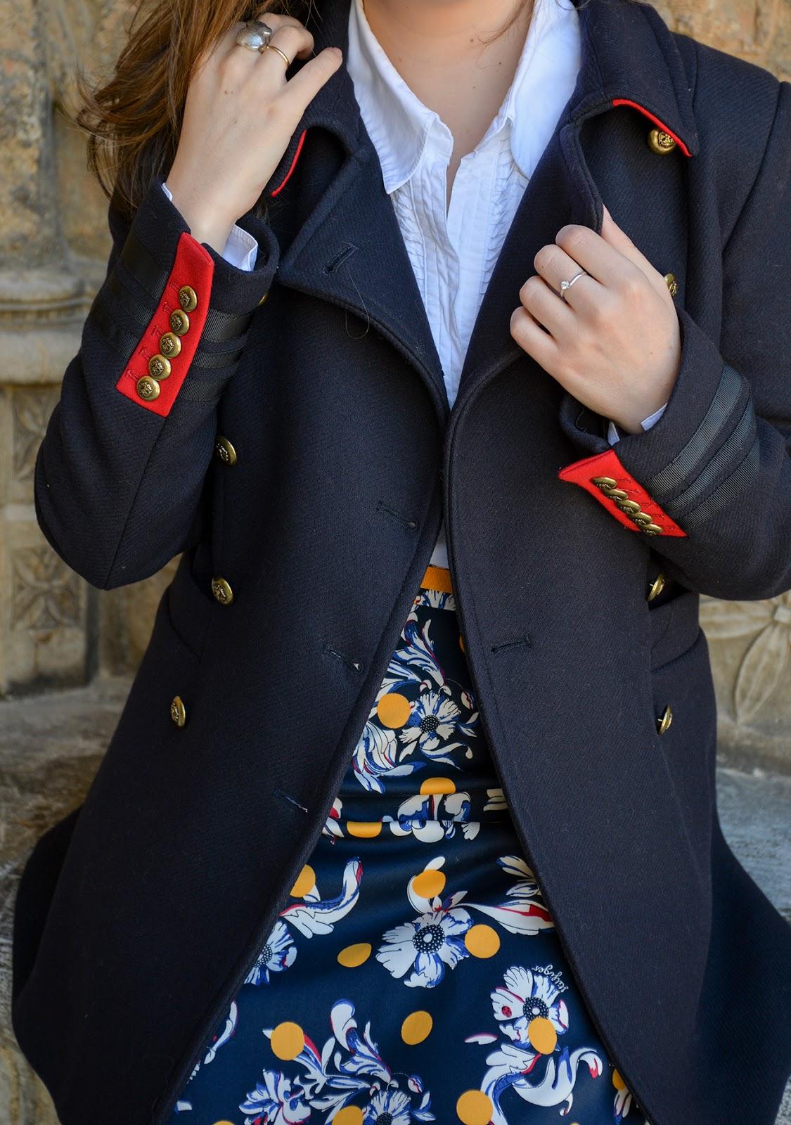 teacher outfit travel tommy hilfiger dot skirt