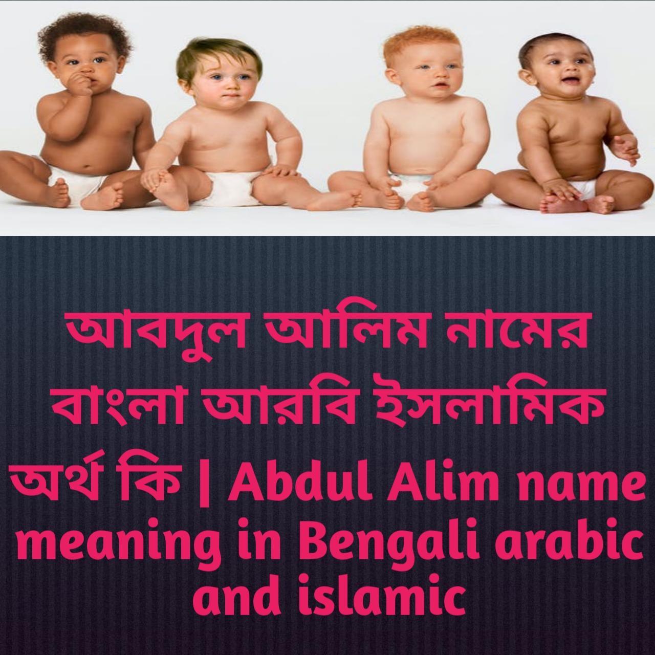 আবদুল আলিম নামের অর্থ কি, আবদুল আলিম নামের বাংলা অর্থ কি, আবদুল আলিম নামের ইসলামিক অর্থ কি, Abdul Alim name meaning in Bengali, আবদুল আলিম কি ইসলামিক নাম,