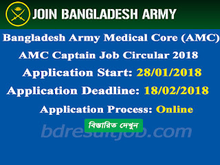 AMC - Army Medical Core 71ST Captain Recruitment Circular 2018