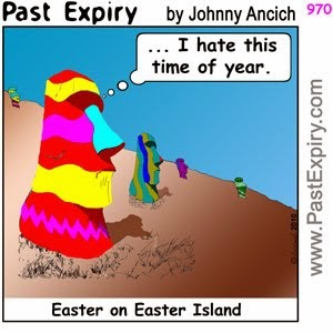 easter island celebrate easter humor image