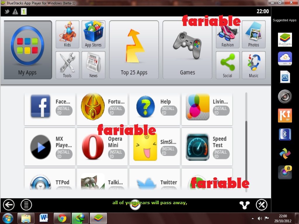 Install Aplikasi Android di Windows  fariable