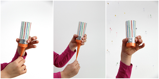 5d8c48167b4 DIY  Un canon à confettis avec un rouleau de papier toilette ...