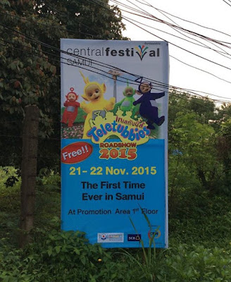 Teletubbies are visiting Koh Samui 21-22 November at Central Festival