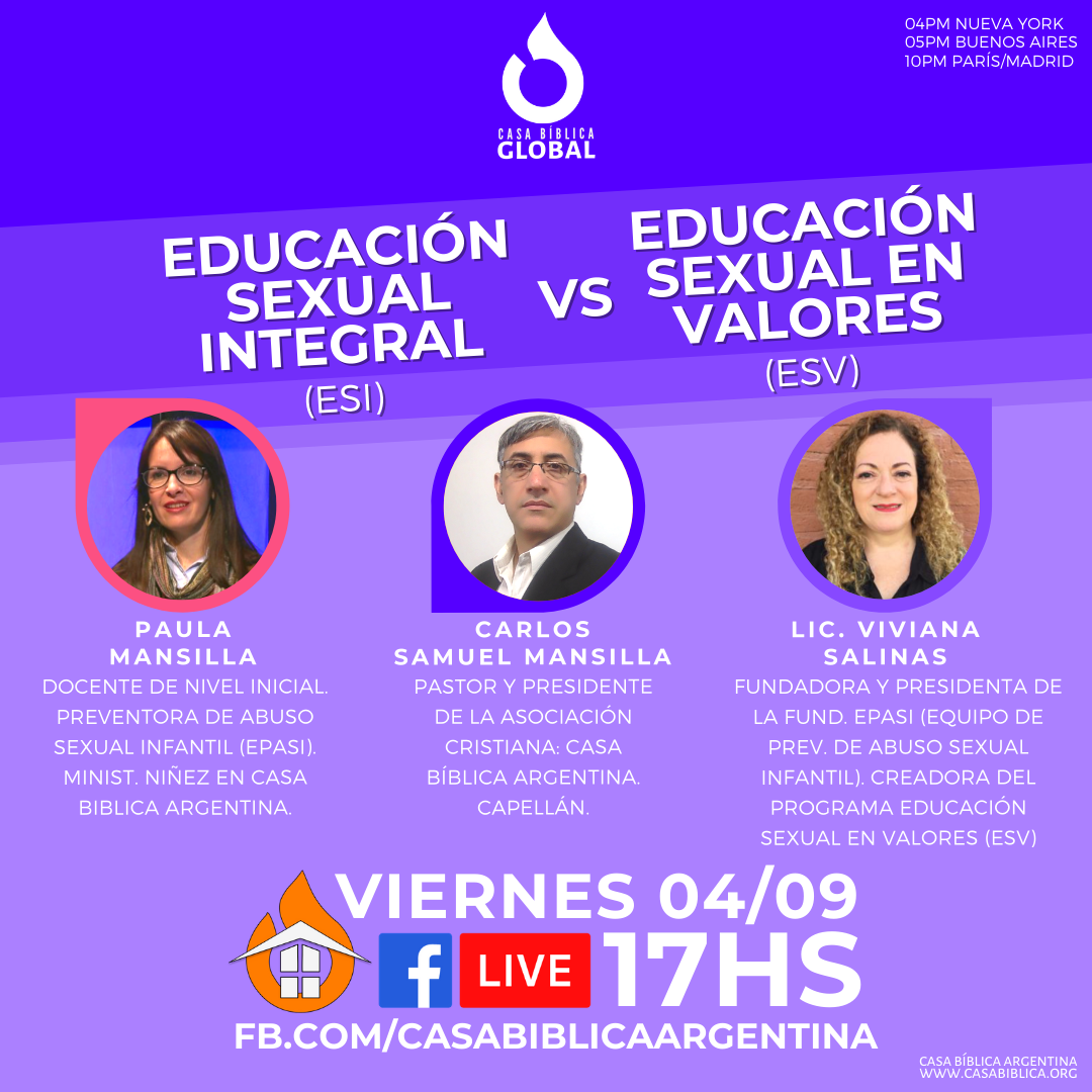 Encuentro: Educación Sexual Integral (ESI) vs Educación Sexual en Valores (ESV)