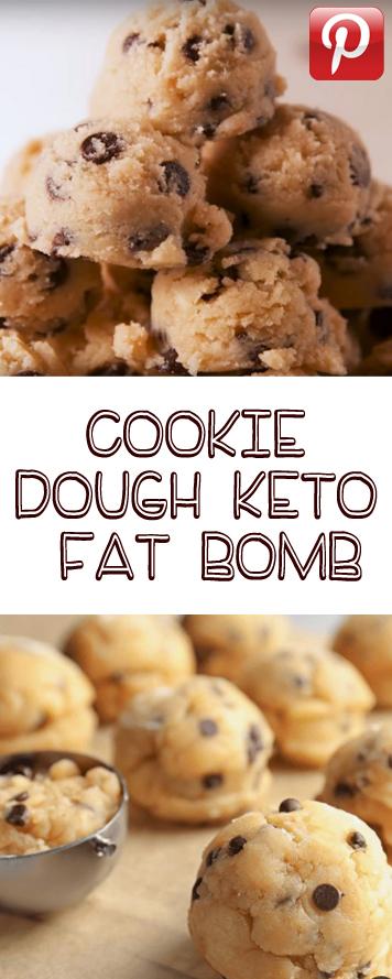 Cookie dough keto fat bomb
