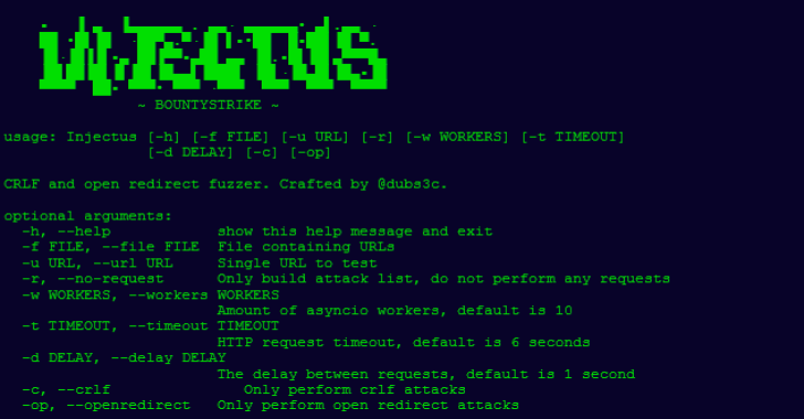 Injectus : CRLF & Open Redirect Fuzzer