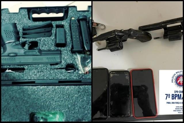 Três armas apreendidas em 24h na Chapada Diamantina