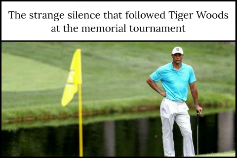 The strange silence that followed Tiger Woods at the memorial tournament