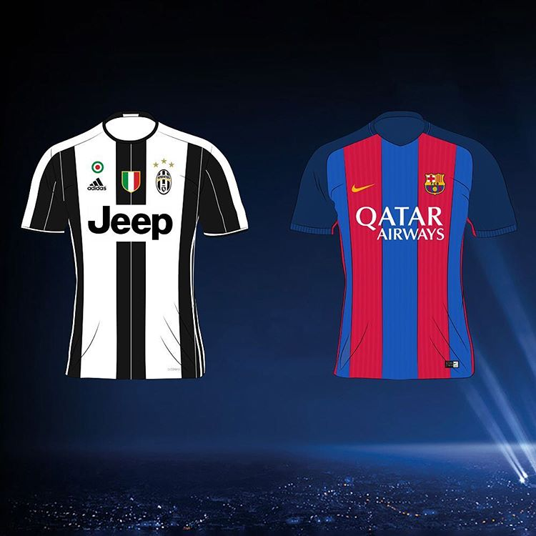 Champions League Quarter Final Jersey Illustations - Footy ...