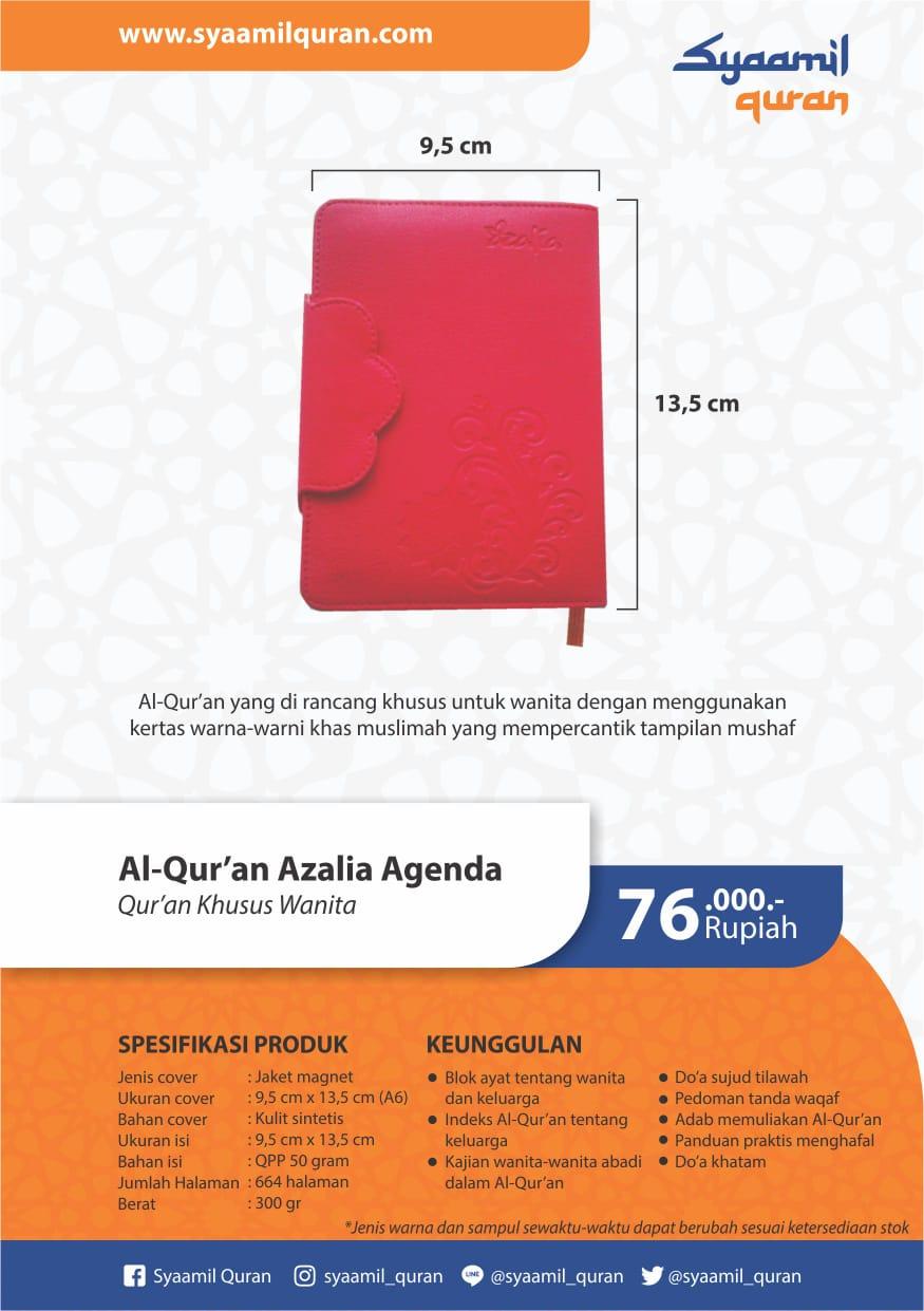 Jual Al-Qur'an Azalia Agenda: Al-Qur'an Khusus Wanita