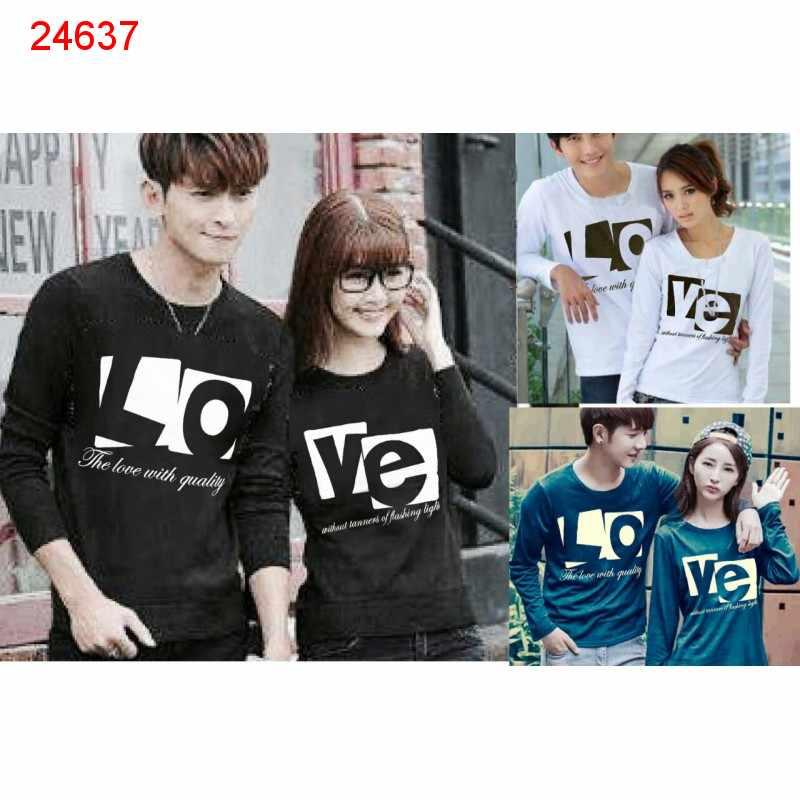 Jual Couple Lengan Panjang LP Love Quality - 24637