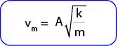 Rumus Kecepatan maksimum benda atau pegas yang bergetar harmonik