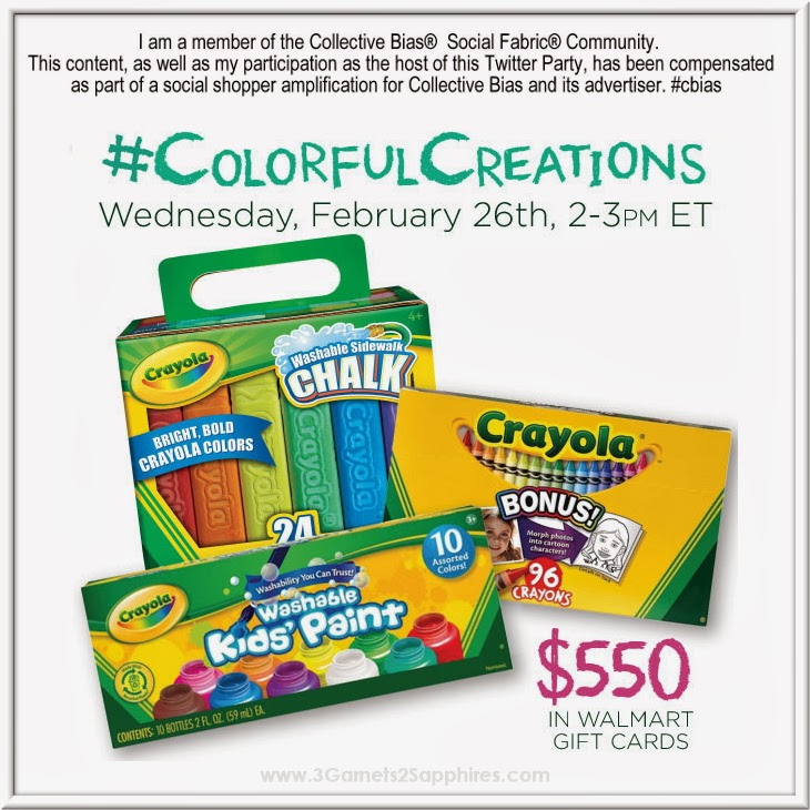 Crayola #ColorfulCreations Twitter Party on Feb 26 at 2pm EST #shop #cbias