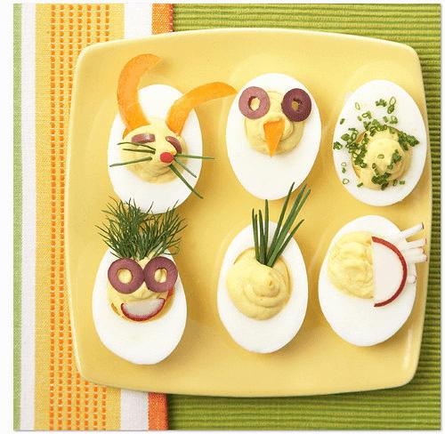 yaratıcı şekilde kahvaltı tabağı süsleme