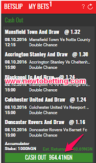 Nairabet Cash out On Accumulator