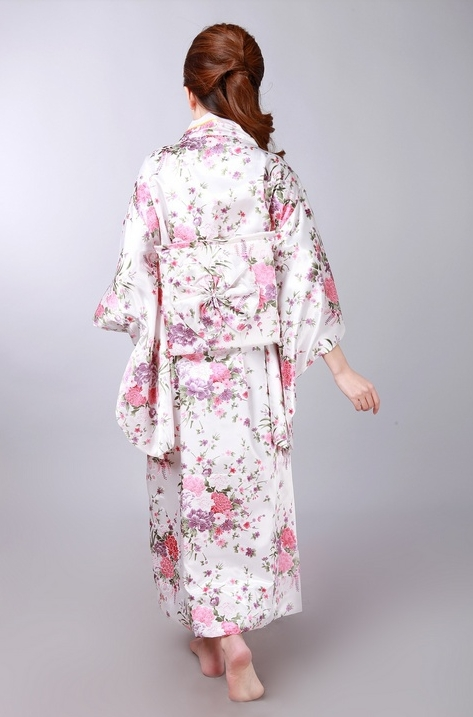 New Fashion Japanese Women's Silk Rayon Kimono Evening Dress
