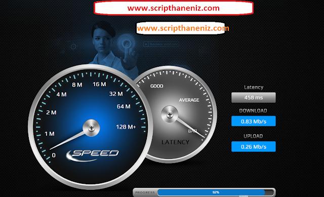 Hız Ölçme Scripti (Speed Test) İndir