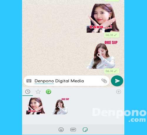 Cara Membuat Stiker Whatsapp Wa Secara Cepat Dan Mudah Denpono
