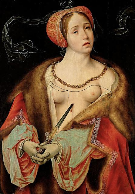 Joos Van Cleeve: La morte di Lucrezia