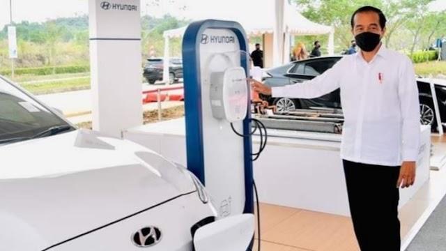 Pabrik Baterai Kendaraan Listrik Terbesar Se-Asean di Resmikan Presiden Jokowi Dodo