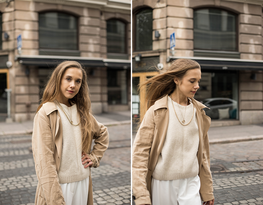 Klassinen trenssi, inspiraatiota syyspukeutumiseen // Classic trench coat, autumn fashion inspiration