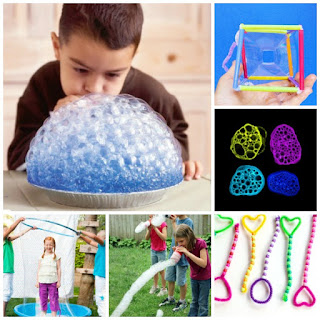 TONS of fun ways for kids to play with bubbles! {Recipes, experiments, & more!} #bubbles #bubblesrecipe #bubblesart #playrecipes #playrecipesforkids #artsandcrafts #craftsforkids #activitiesforkids #kidsactivities #kidscrafts