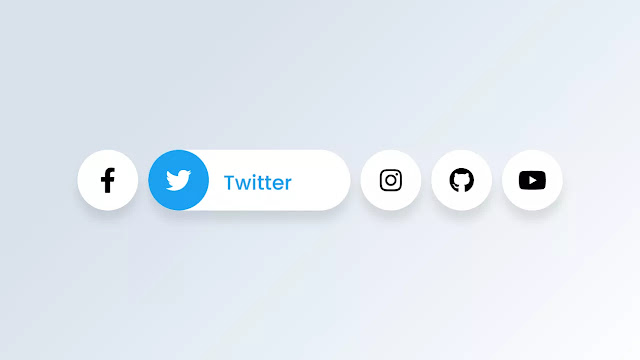 Awesome Social Media Buttons with Hover Animation  HTML & CSS