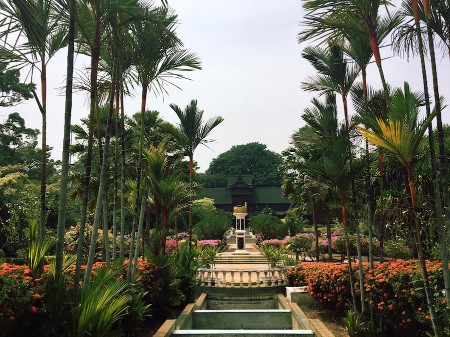 The large garden in the sultanate palace museum Malacca