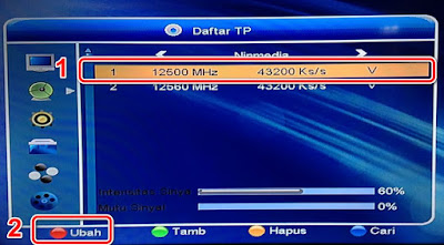 Merubah Transponder Ninmedia
