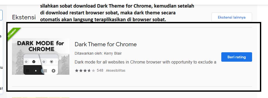 Cara Merubah Tema Dark Mode Di Google Chrome - Kaca Teknologi