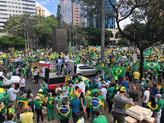 Cidades do Brasil registram manifestações em apoio a Bolsonaro, veja ao vivo