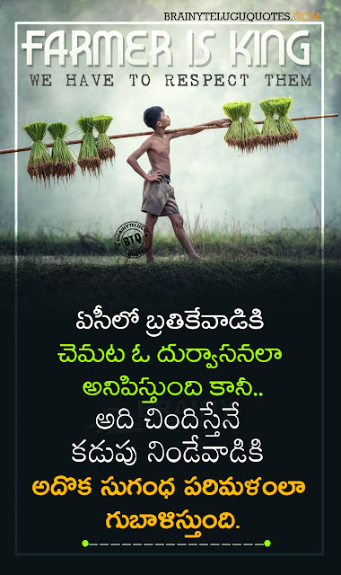 telugu farmer quotes-nice words about farmer-quotes on farmer in telugu-farmer hd wallpapers free download