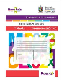 Exámenes de Diagnostico 1° a 6° - Subsecretaria de Educación Básica N.L.