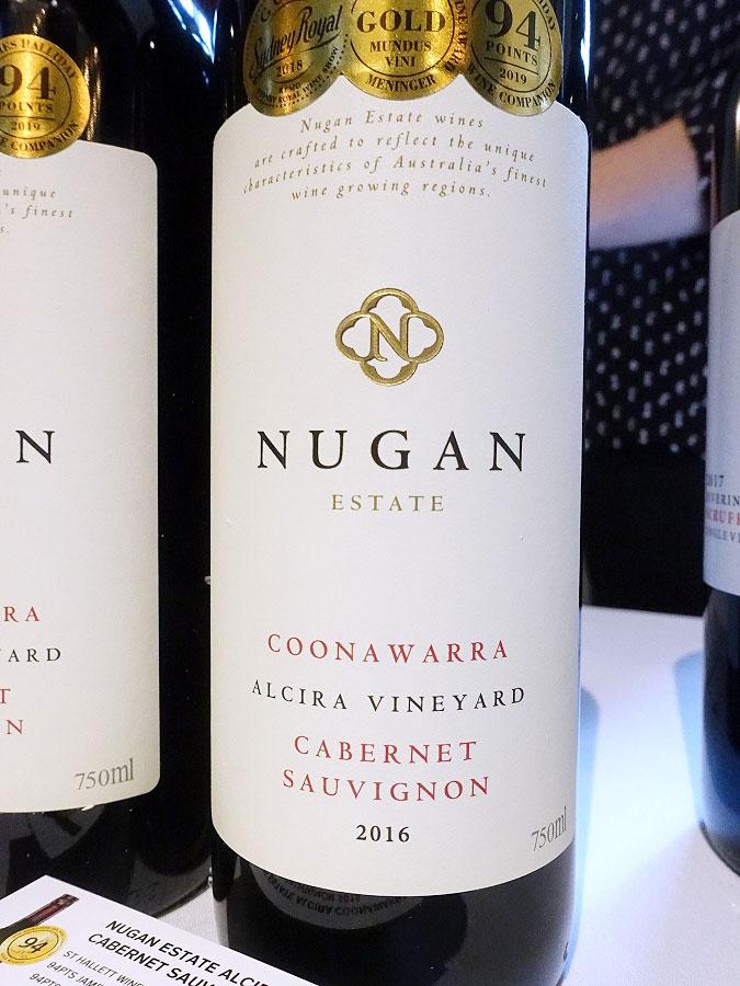 Nugan Estate Alcira Vineyard Cabernet Sauvignon 2016 (91 pts)