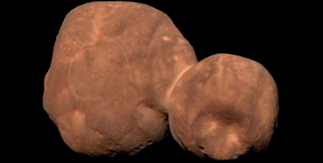 Peanut-shaped Arrokoth is the farthest and most primitive object in the Solar System ever to be visited by a spacecraft. | NASA/Johns Hopkins University Applied Physics Laboratory/Southwest Research Institute/Roman Tkachenko