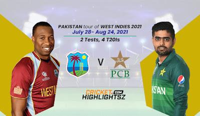 Pakistan tour of West Indies 2021   4-T20I Match Series