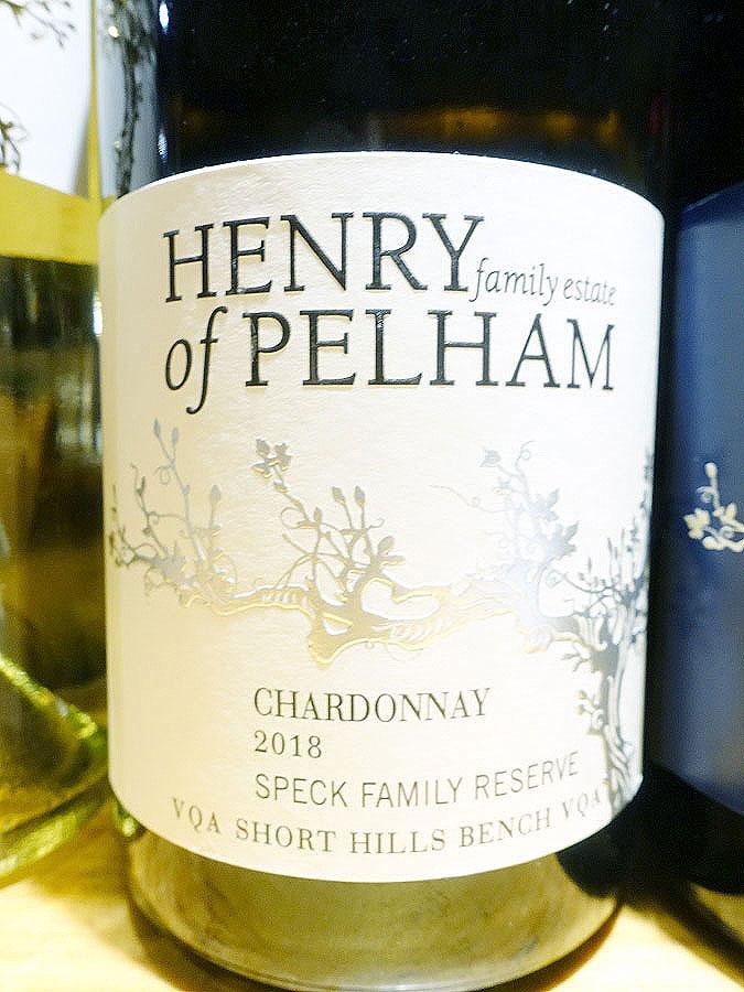 Henry of Pelham Speck Family Reserve Chardonnay 2018 (90+ pts)