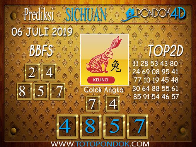 Prediksi Togel SICHUAN PONDOK4D 06 JULI  2019