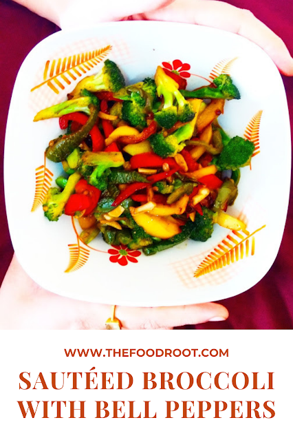 SAUTÉED BROCCOLI WITH BELL PEPPERS