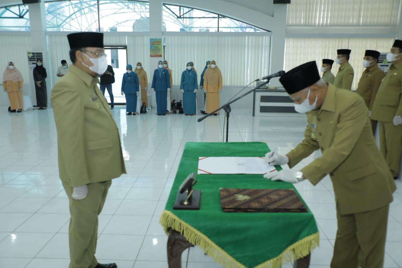 Bupati Asahan Melantik Drs. H. John Hardi Nasution, MSi Menjadi Sekda Kabupaten Asahan Defenitif