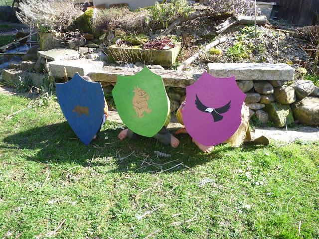 Ritter Wikinger Spielen Kinder