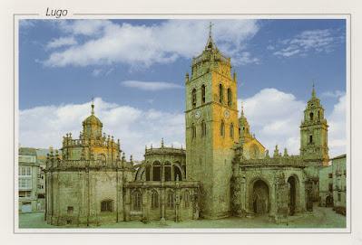 Lugo, postal, tarjeta, catedral