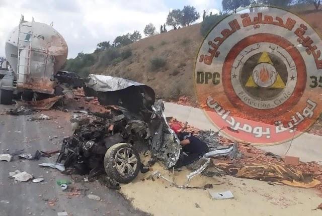 3 قتلى في حادث مرور على مستوى الطريق السيار شرق غرب الأربعطاش