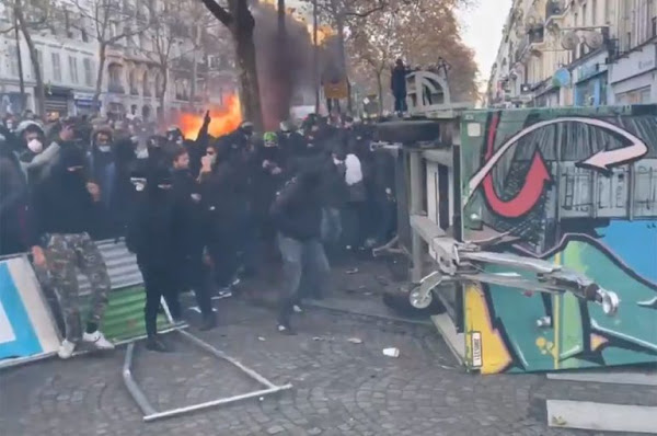Manifestation contre la loi sécurité globale : violents incidents en cours à Paris