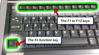 function key usage (Fn)
