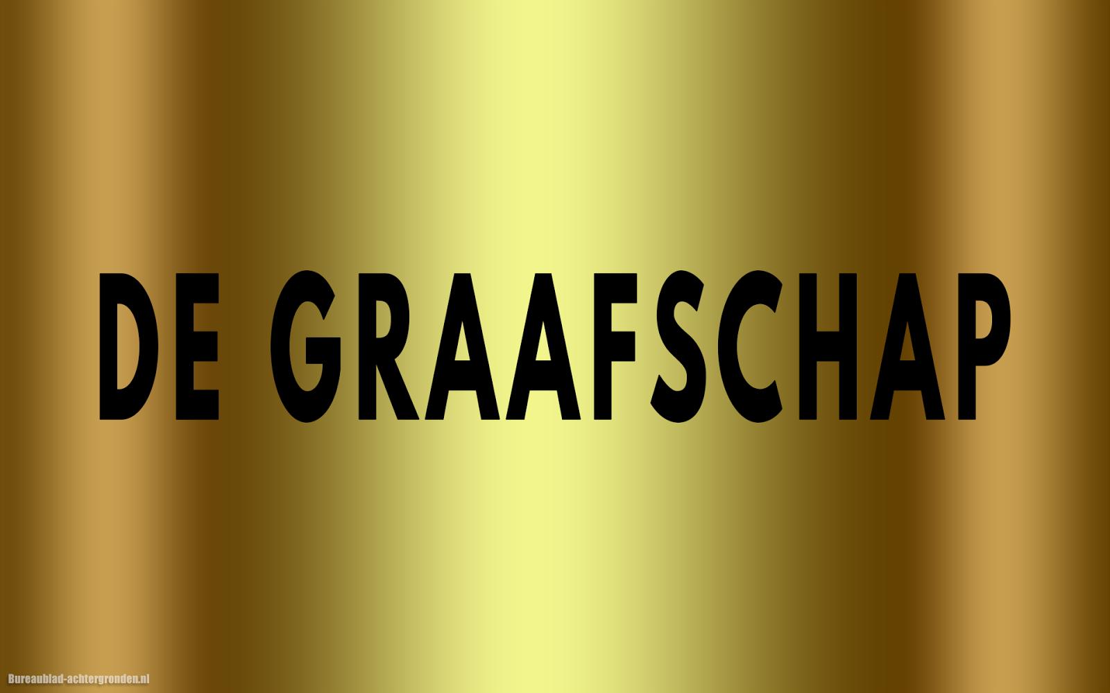 Gouden De Graafschap Wallpaper Met Zwarte Tekst De